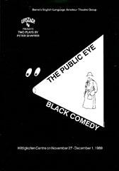 The Public Eye and Black Comedy Flyer